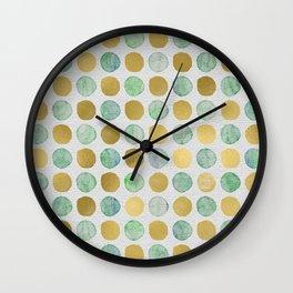 Gilded aquatics Wall Clock