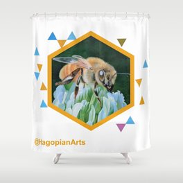 Eco Mural Project 2: Symbiosis: Honey Bee Shower Curtain