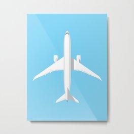 787 Passenger Jet Airliner Aircraft - Sky Metal Print