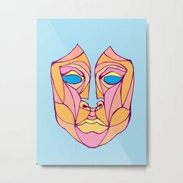 Geometric Face  Metal Print