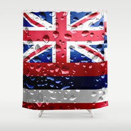 Flag of Hawaii - Raindrops Shower Curtain