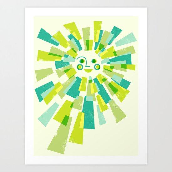 Modern Sunburst Art Print