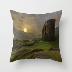 Dolbadarn Castle Sunrise Throw Pillow