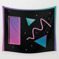 disco Wall Tapestries featuring disco by Hannah Siegfried