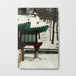 Winter Changdeokgung palace, Seoul, Korea Metal Print