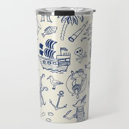 Pirate Play - Cream Travel Mug
