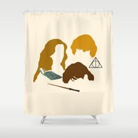 wizard Shower Curtains featuring Wizard Trio by bees
