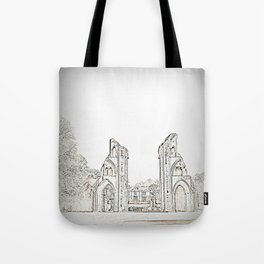 Glastonbury Abbey Tote Bag