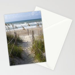 Peaceful Beach Scene Stationery Cards
