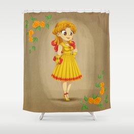 Retro Sailor Galaxia Shower Curtain