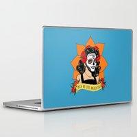 dia de los muertos Laptop & iPad Skins featuring Dia de los Muertos by Karen Vaughan