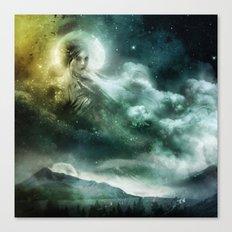 La Dame aux Nuages Canvas Print