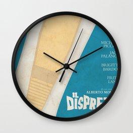 Le mépris, Contempt, Brigitte Bardot, Jean-Luc Godard, french movie poster, new wave, cinema Wall Clock