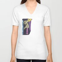 homestuck V-neck T-shirts featuring The Mayor of Can Town by Michelle Rakar