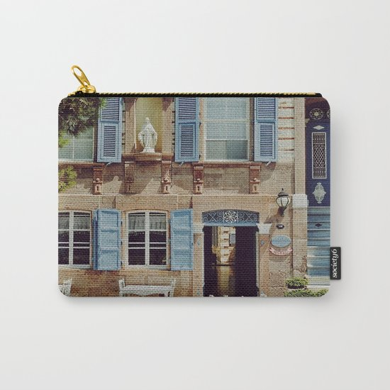 Blue Shutters in the Sun Carry-All Pouch
