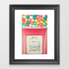Rainbow Bubblegum Framed Art Print