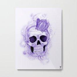 Sonho de Morte  Redux (violet) Metal Print
