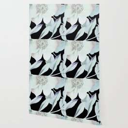 camellia on black Wallpaper
