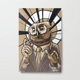 Owl-bama Metal Print
