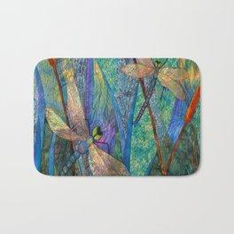 Colorful Dragonflies Bath Mat