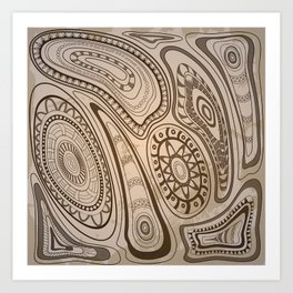 old tribal pattern Art Print