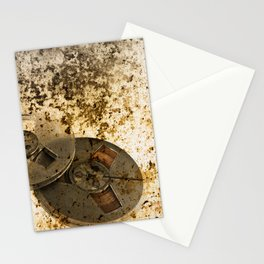 Old Audio reels background Stationery Cards