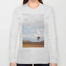 Lanzarote Palm tree landscape Long Sleeve T-shirt