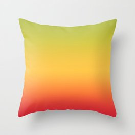 Tropical Colorful Gradient Pattern Throw Pillow
