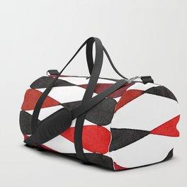 Harlequin Pattern in Watercolor - Mid Century Duffle Bag