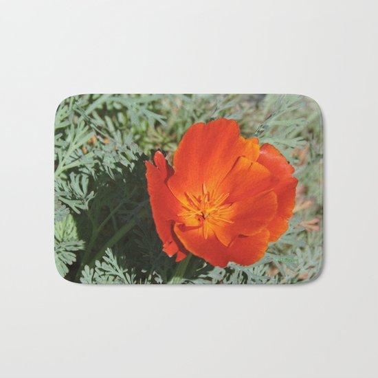 California Poppy Bath Mat