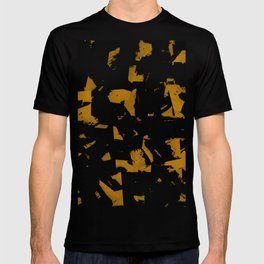 Looking For Gold - Abstract gold and black painting T-shirt