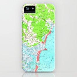 Vintage Map of Hampton Beach New Hampshire (1957) iPhone Case