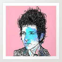 dylan Art Prints featuring Dylan by Samuel Charrois