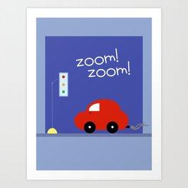 Zoom Zoom Car Art Print