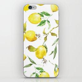 Watercolor lemons 8 iPhone Skin