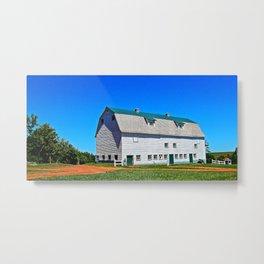 Beautiful Barn under Blue Sky Metal Print