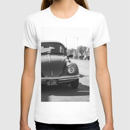 Hermosa Beach Surf Bug, Black and White Photography Print, Beach Art, South Bay Los Angeles Art T-shirt