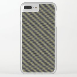 ENOUGH IS ENOUGH, GOLD AND BLACK DIAG, TECH Clear iPhone Case