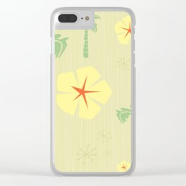 Midcentury Tiki Print Hawaii Retro Vintage Clear iPhone Case