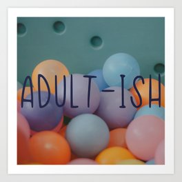 Adult-ish balls Art Print