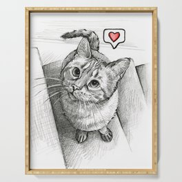 Cute Kitty Cat - Love Me Serving Tray