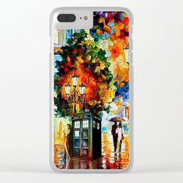 Tardis In The City Clear iPhone Case