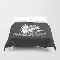 salt water Duvet Covers featuring Salt Water First Aid by SKEWJACK