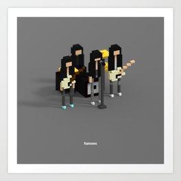 Voxel Ramones Art Print