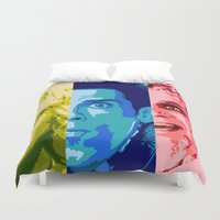 will ferrell Duvet Covers featuring Zoo Pop by victorygarlic - Niki