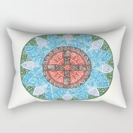 stained flower Rectangular Pillow