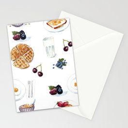 3 meals a day, all breakfast Stationery Cards