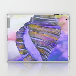NAUTILUS CONCH SEA SHELL PURPLE IMPRESSIONS Laptop & iPad Skin