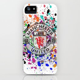 Watercolor Manchester United iPhone Case