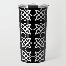 Stars 31- black and white star. Travel Mug